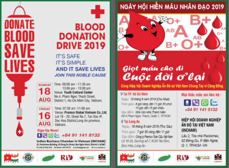 Save life:  INCHAM blood donation driven 2019